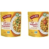 Tasty Bite Indian Entrée Hot & Spicy, Coconut Vegetables, 10 Ounce, Pack of 6 & Thai Entree Hot & Spicy Vegetable Curry, 10 O