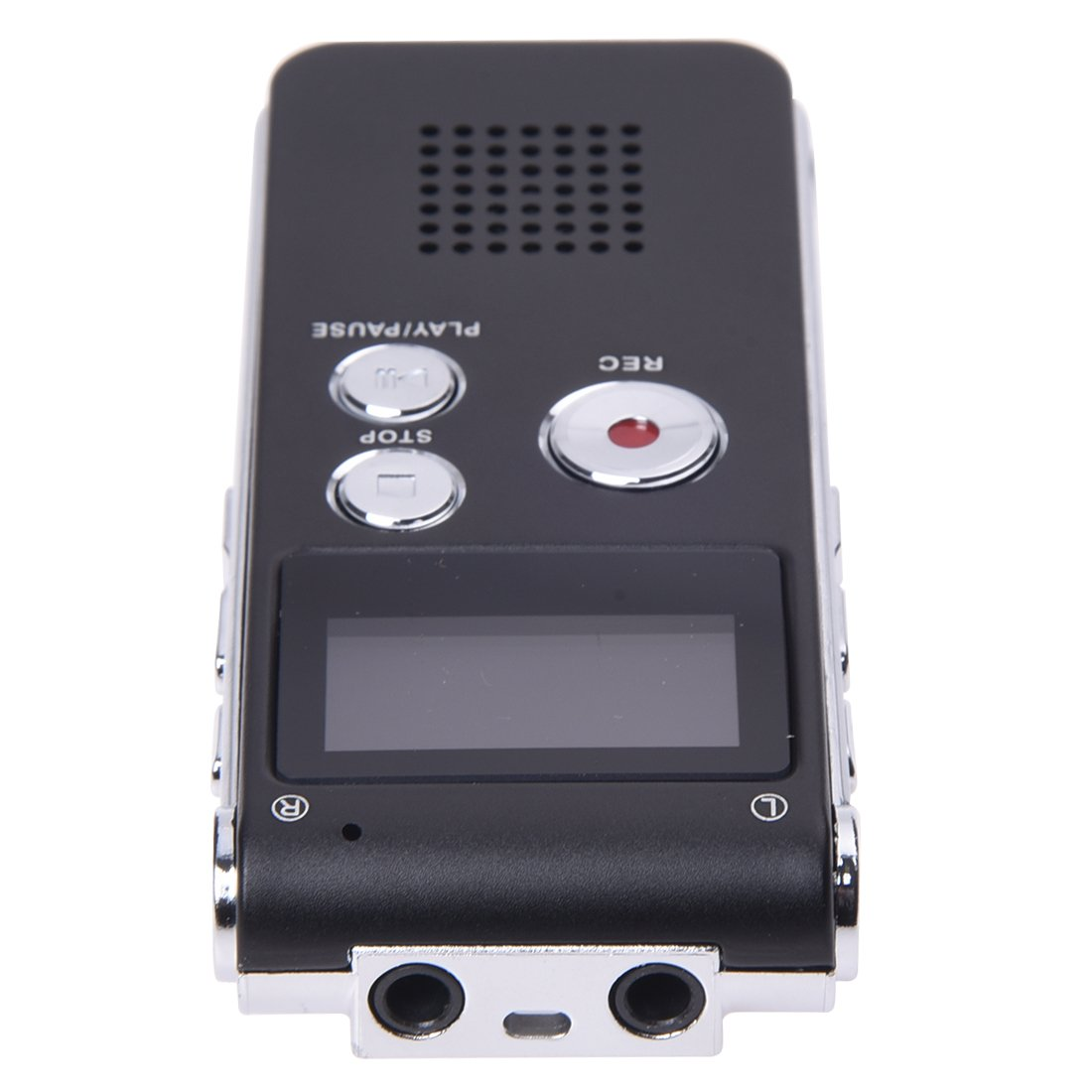 REFURBISHHOUSE 8GB LCD 650Hr Audio Numerique Enregistreur Dictaphone MP3 Rechargeable Espion