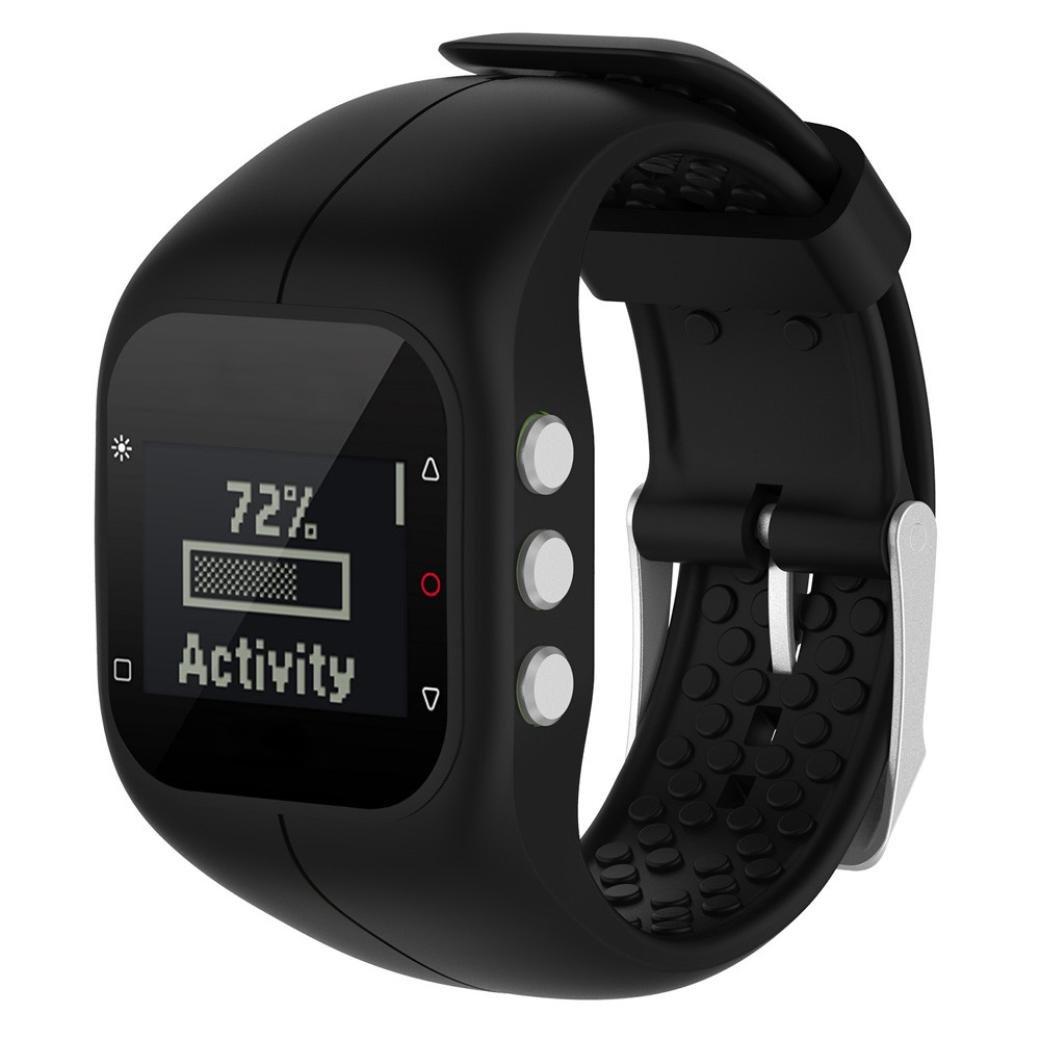 vesniba交換ソフトシリコンラバー腕時計バンド手首ストラップfor Polar a300 Fitness Watch 235MM A-ブラック A-ブラック A-ブラック B074SLPVQB