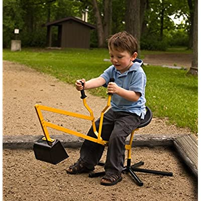 WONKAWOO Steel Ride-On Sand Digger Ride On, Yellow: Toys & Games