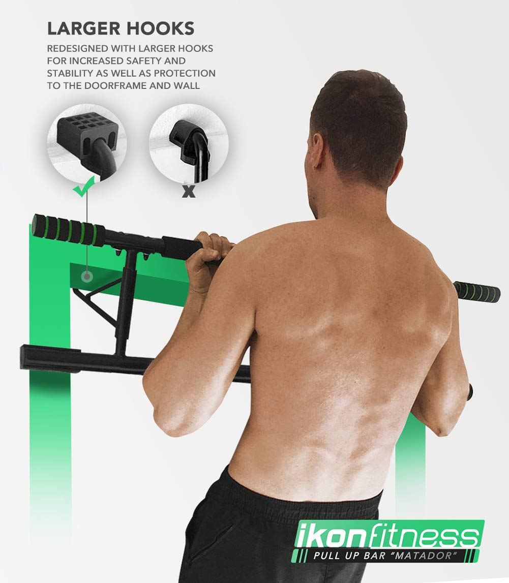 Amazon Com Ikonfitness Pull Up Bar With Smart Larger Hooks
