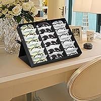 amzdeal Caja para Gafas de Sol con 18 Estuches para Organizar y ...