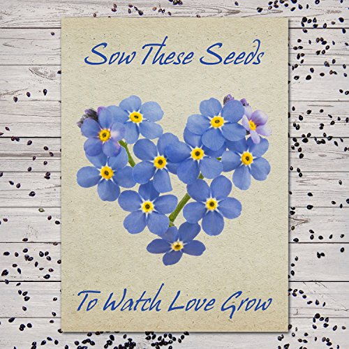 Shower Favor Seeds Baby (Set of 25 Individual Forget-Me-Not Seed Packets/Seed Favors (Watch Love Grow))
