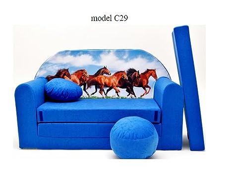 Italpol produkt divano divanetto bambini cuscino e puff mini divano