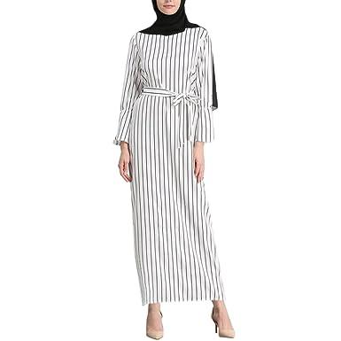 Zhuhaitf Damen Maxi Dresses Formal Kleider Muslime Islamisch Abaya ...