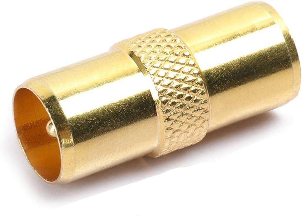 DIGIFLEX Adaptador de Antena Macho a Macho - Adaptador de Cable Coaxial RF Conector de TV M a M