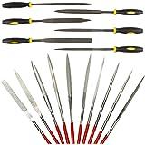 16 pcs Needle File Set, AFUNTA Hardened Alloy Strength Steel Mini Needle File Set for Shaping Diamond Metal Wood Plastic