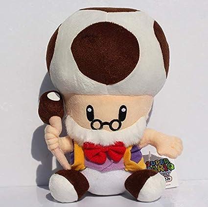 Amazon Com Lfslas Super Mario Mushroom Grandpa Plush Toadsworth