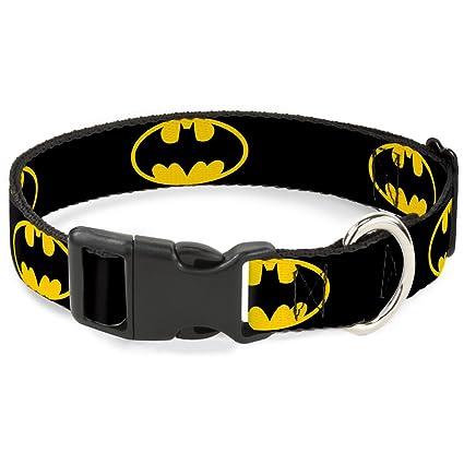 Amazon Batman Symbol Plastic Clasp Dog Collar Small 9 15