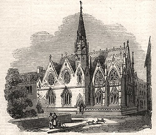 Coventry Wall Small (New Baptist chapel of St. Michael, Coventry. Warwickshire. SMALL - 1856 - old print - antique print - vintage print - printed prints of Warwickshire)