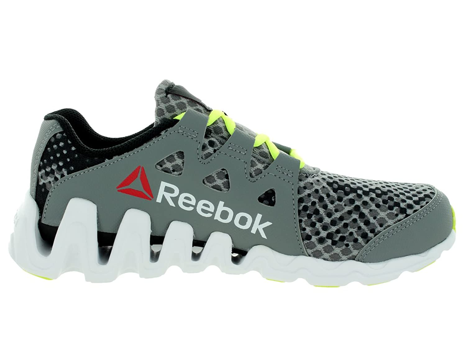 Amazon.com | Reebok Kids Zigtech Big N Fast Gry/Blck/Yellow/Wht Running Shoe  7 Kids US | Shoes