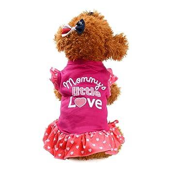 Ropa para Perros Amlaiworld Primavera Verano Lindo Vestido de Perrito Mascotas Ropa para Mascotas Perros Gatos pequeños Vestido con Manga: Amazon.es: ...