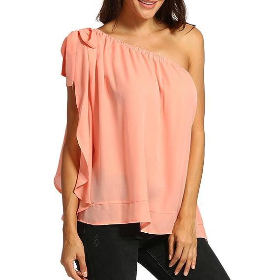 ASHOP Camisetas Muje, Camisetas Sin Mangas EN Oferta Talla Extra Suelto Tops Blusas de Mujer