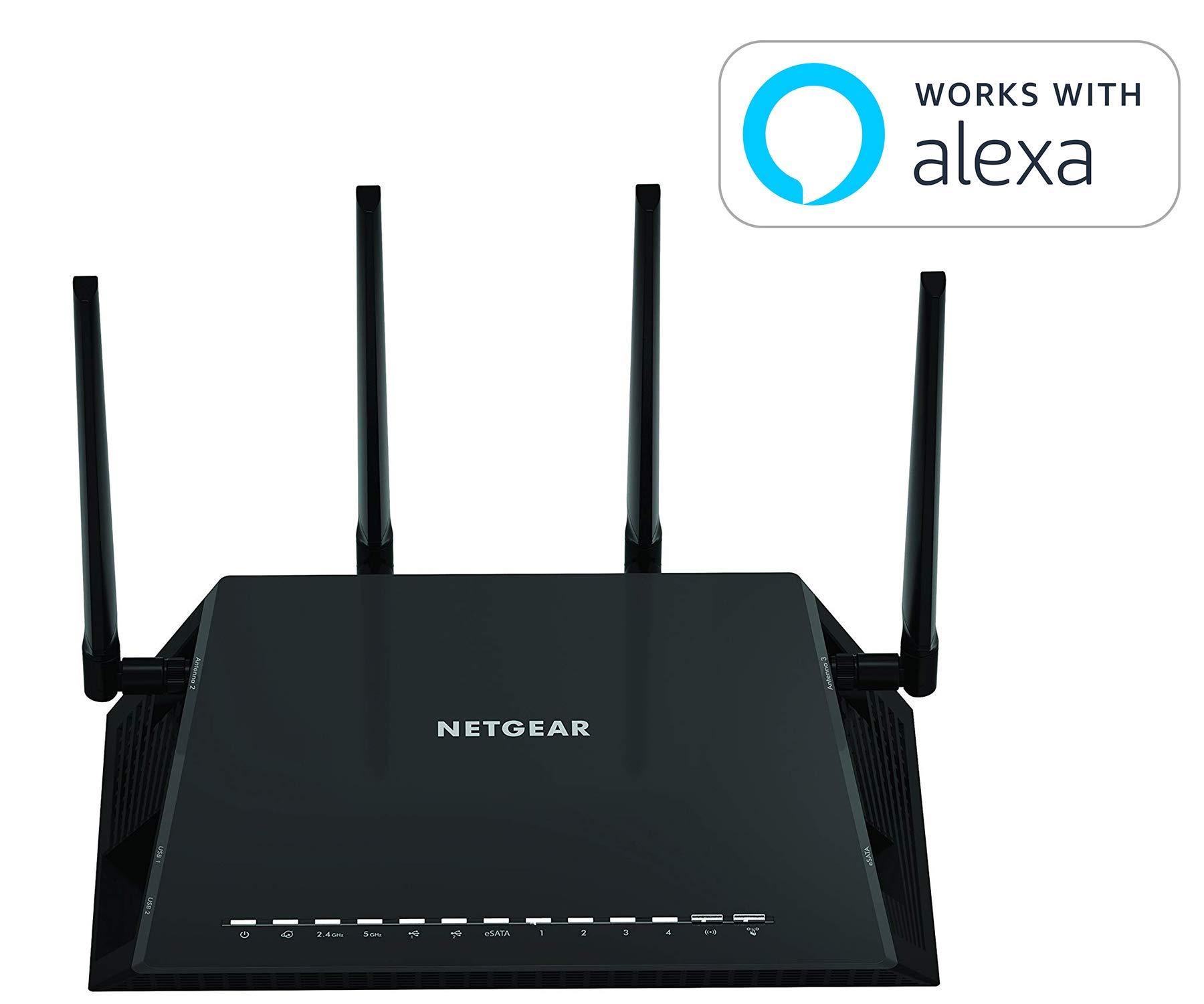 NETGEAR Nighthawk X6 AC3000 Dual Band Smart WiFi Router, Gigabit Ethernet, Compatible with Amazon Echo/Alexa (R7900) by NETGEAR