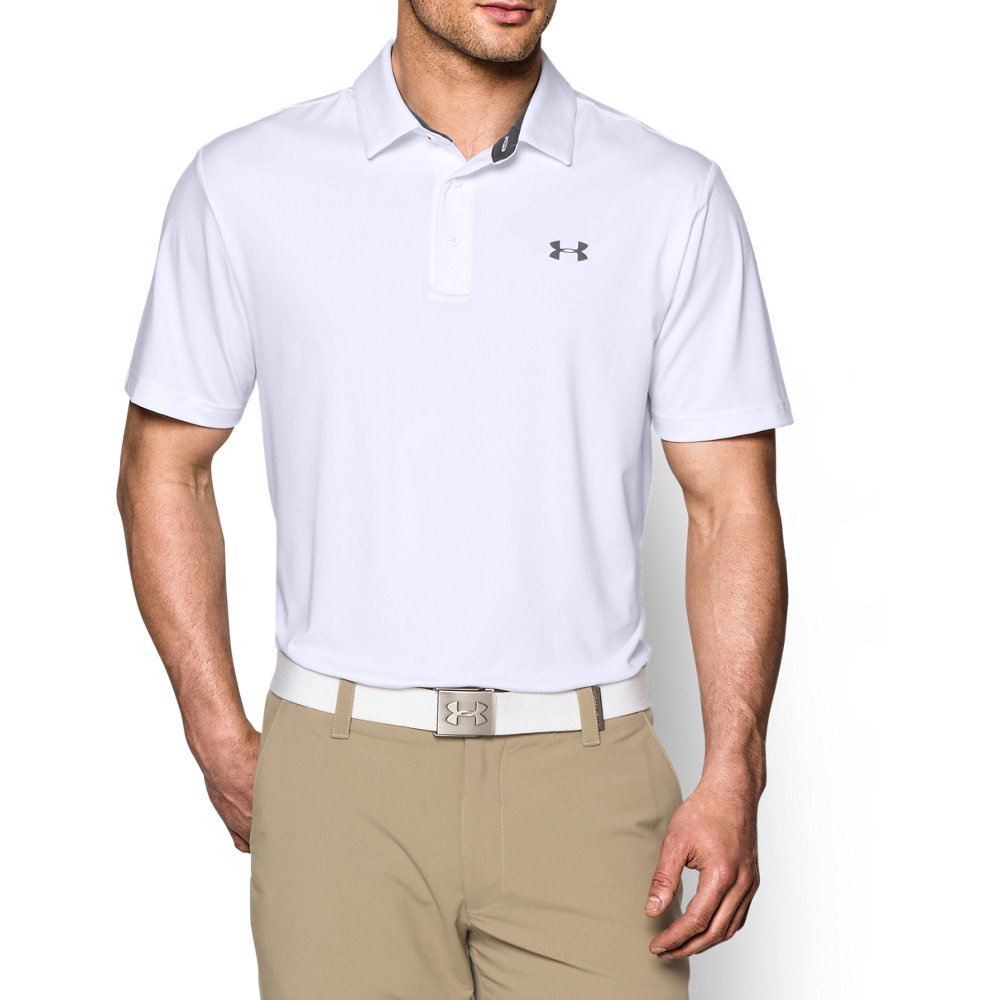 Under Armour Men's Playoff Polo, White /Graphite, Large