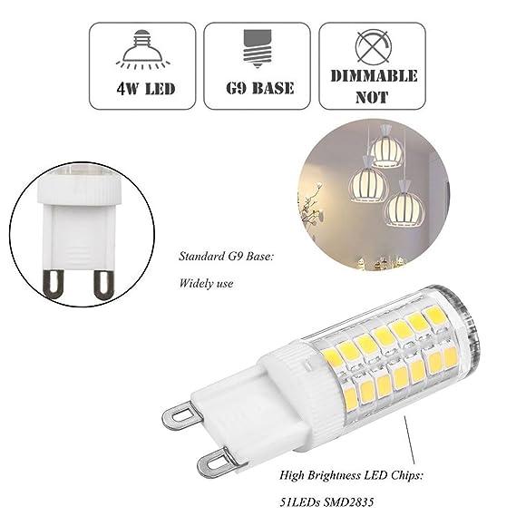 g9 led bulb 120v 6000k daylight white t4 g9 gy8 6 bi pin base xenon
