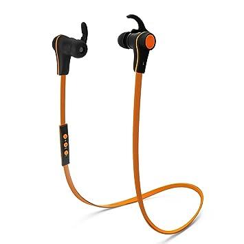 Proxelle - Auriculares Bluetooth Deportivo Inalámbricos Aislante De Ruido Sport Cascos Wireless para Correr, Naranja
