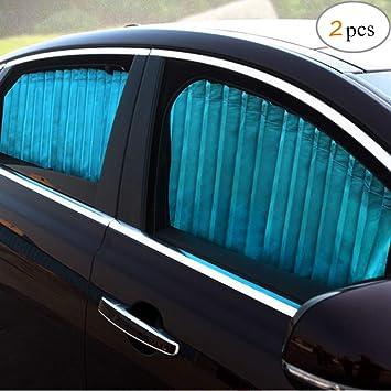 Zatooto Sonnenschutz Fürs Auto Vorhang Sonnenschutz Magnetisch Für Uv Schutz Hitzeschutz Blau Auto