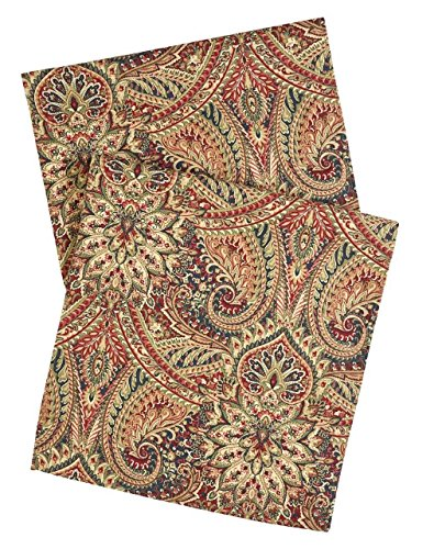 Paisley Table Runner - Red Table Runners 72 Inch Table Runner Table Linens Dining Table Runner Buffet Table Decorations Paisley Fabric Tablecloths