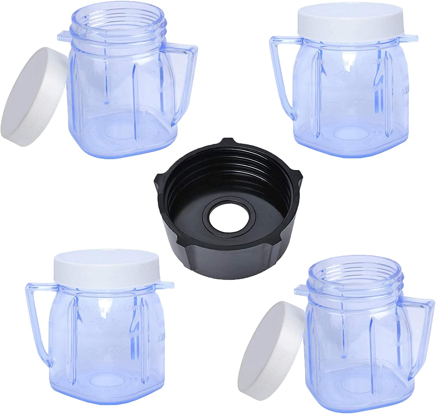 Replacement Parts for Oster and Osterizer Blenders, 4937Mini 1-cup Plastic Jar and 4902 Blender Jar Bottom