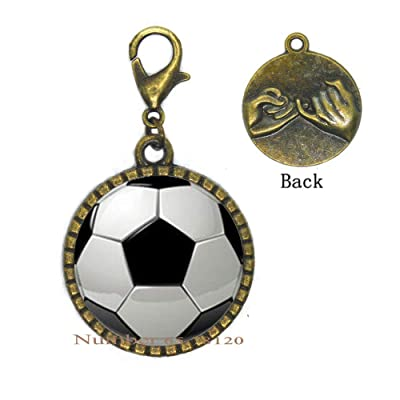 Soccer Charm Zipper Pull,Soccer Ball Zipper Pull,Sports Zipper Pull,Soccer Player,Soccer Gift,Soccer Lover,Soccer Team Zipper Pull,BV043: Arts, Crafts & Sewing