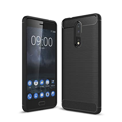 new style ebea0 1b5ee ZAPCASE Back Cover Case Compatible for Nokia 8 (2018) / Nokia 8 (2018)  Cases & Covers (Carbon Fiber Rugged Armor Black Color)