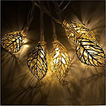 Beau JOJOO 20 LED 16 Ft/ 4.9m Tree Leaf Solar String Lights Metal Ornament Lights  For Outdoor, Indoor, Garden, Wedding, Patio, Halloween And Christmas, ...