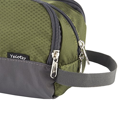 Shower Bag, Yeiotsy Travel Toiletry Organizer Small Toiletry Bag Unisex Gym Bag (Army Green) by Yeiotsy (Image #5)