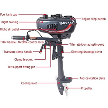 sky 3 5 Hp Superior Engine Water Cooling System Outboard