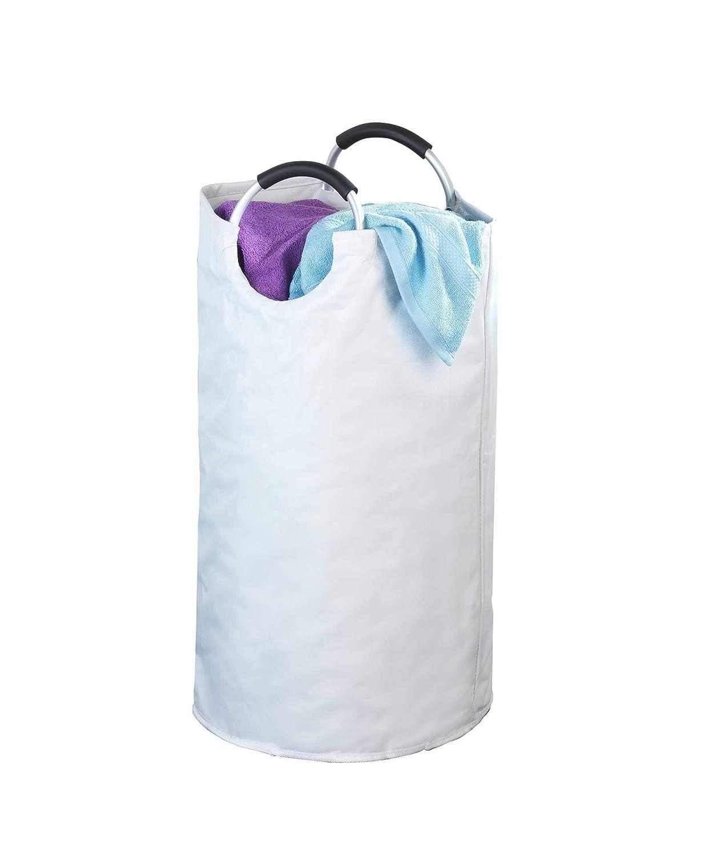 Blau Fassungsvermögen 44 L WENKO  Wäschesammler Stone Wäschekorb