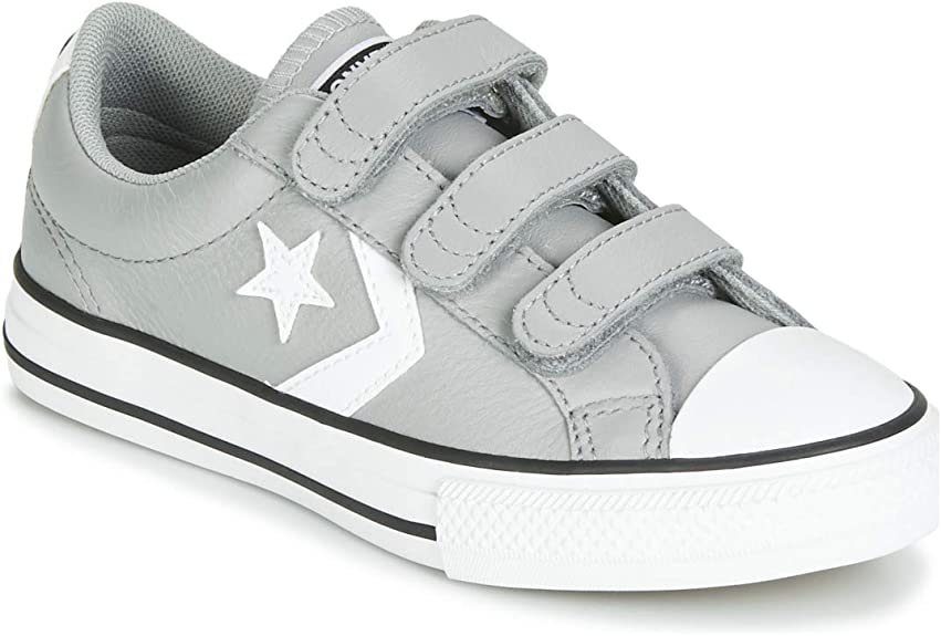 Converse Star Player EV 3V Leather Ox Sneakers Enfant Grigio