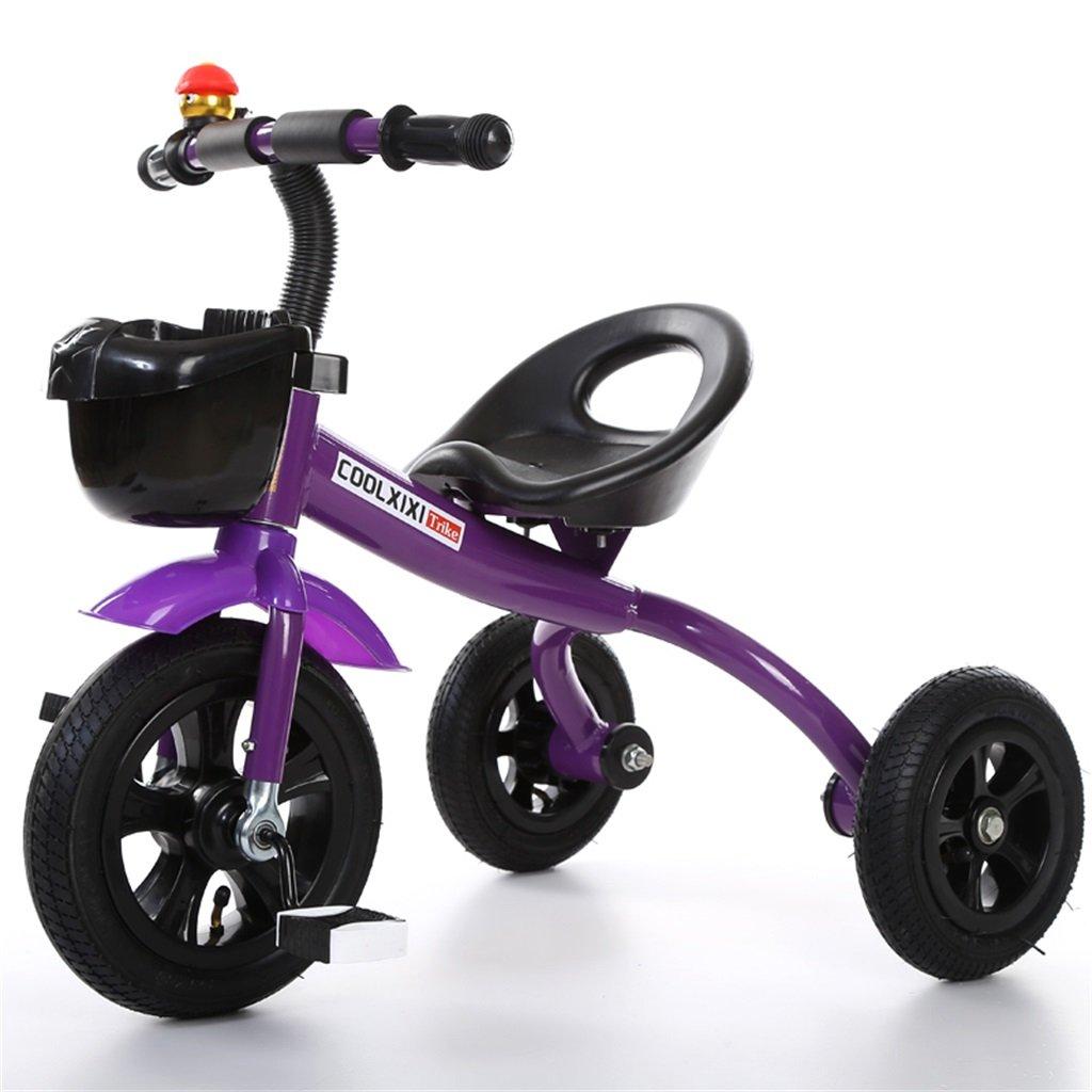 Venta al por mayor barato y de alta calidad. Triciclo Triciclo Triciclo de moda Carruaje de bebé Bicicleta Niño Juguete Coche Rueda inflable / Rueda de bicicleta de plástico Adecuado para 1-2-3-4 años (Niño / niña) ( Color : Purple , Tamaño : B-estilo )  en stock