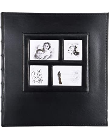 Scrapbook With Gift Box And Scrapbooking Supplies Black Pages Photo