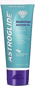 Astroglide Diamond, Premium Waterproof Silicone Gel Personal Lubricant, 3 oz.