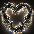 YMing 8.3Ft Vine-shaped Bedroom String Lights 72 Bulbs Starry Fairy Lights Perfect for Room,Dorm,Christmas,Window Curtain,Bookshelf, Backyard,Wedding,Birthday Party