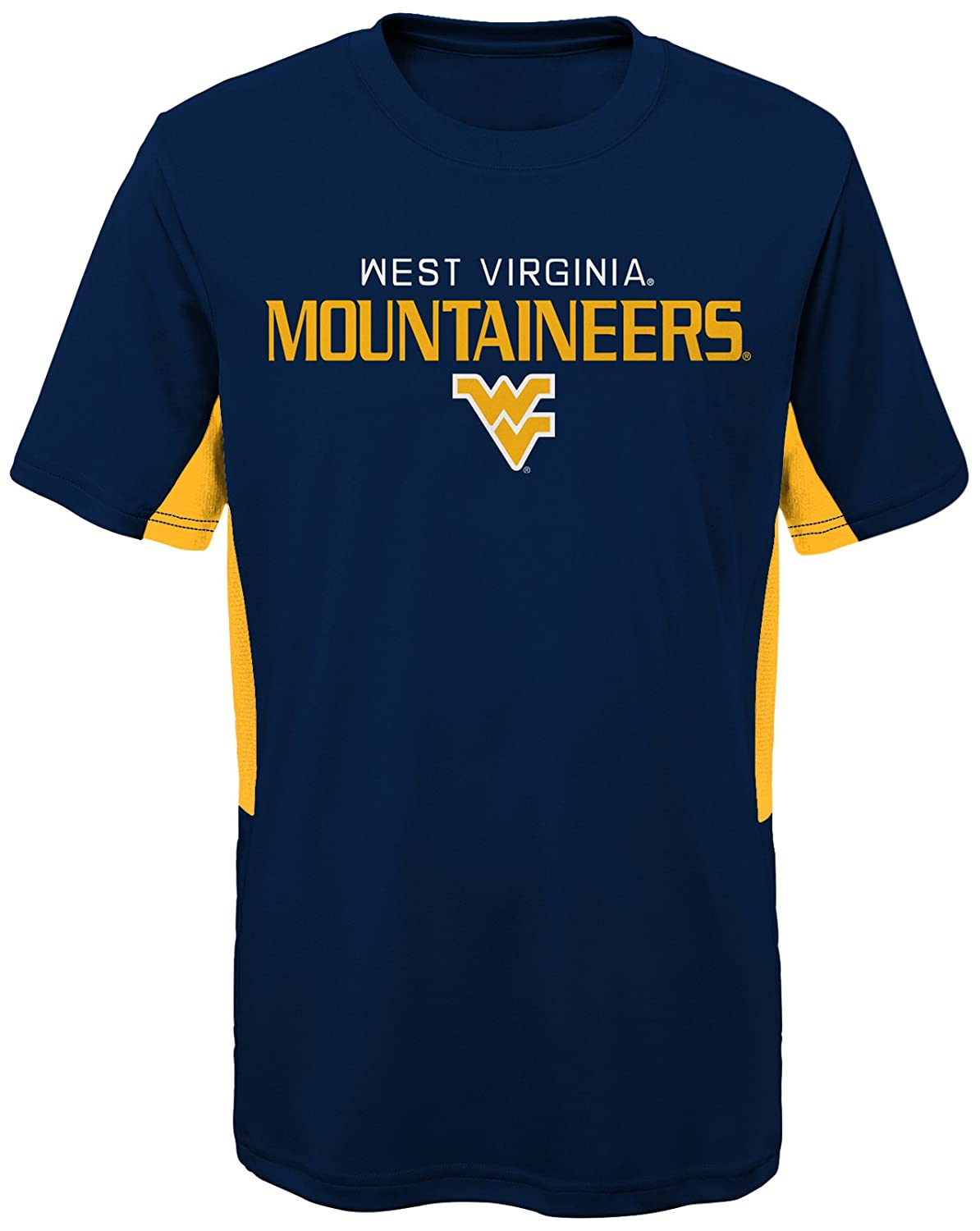 NCAA by Outerstuff NCAA West Virginia Mountaineers Youth Boys Mainframe: Short Sleeve Performance Top Youth Small Dark Navy 8