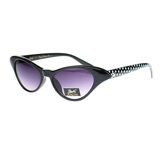 Horn Giselle Retro Sunglasses Eye Face Rim Cat Womens Small Narrow OkPnw0