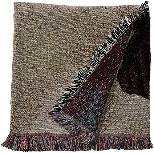 - Pure Country Weavers - Boxer with Puppy Woven Throw Blanket with Fringe Cotton. USA Size 54x54