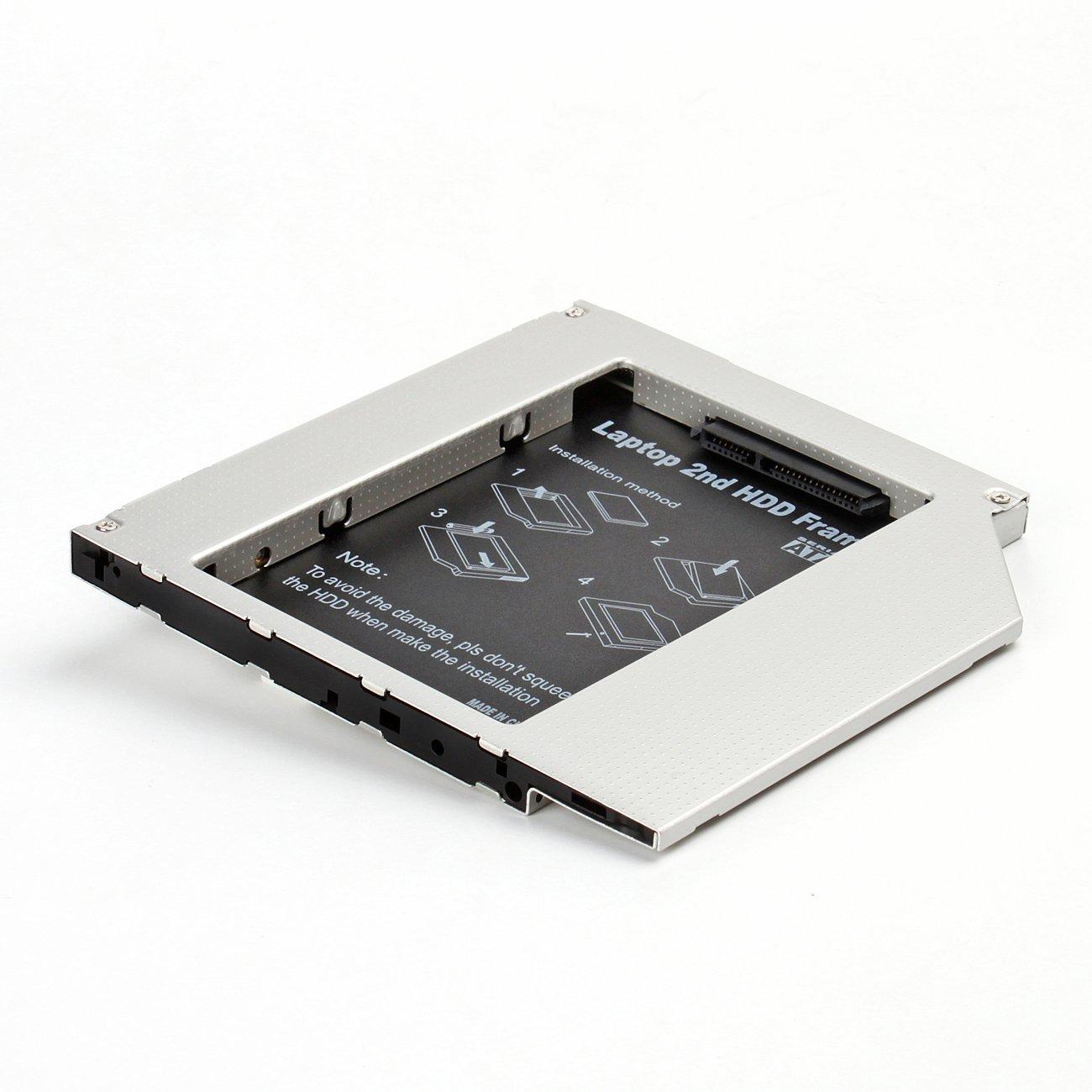 Universal 2nd SSD ODD Adaptador Bahí a de Disco Duro 2, 5' SATA HDD/SSD 9, 0mm(2.HDD Hard Drive Caddy 5 SATA HDD/SSD 9 Salcar 6115