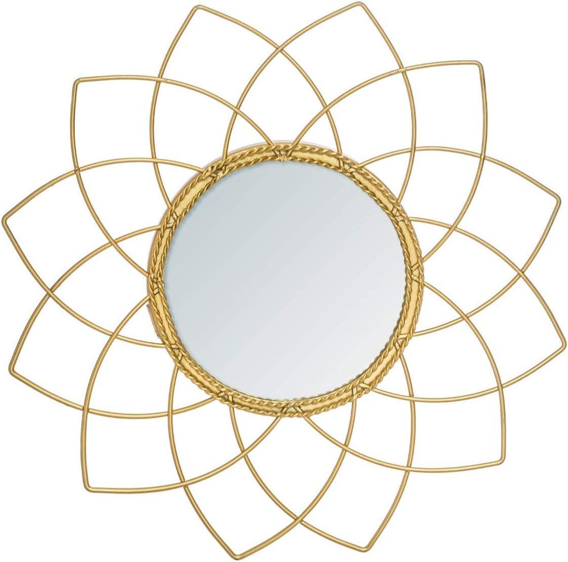 Atmosphera Miroir m/étal dor/é Collection Boh/ème D 24 cm