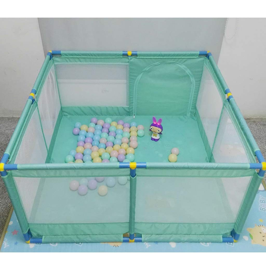 Hulan Portable Baby Children's Play Fence Playground Foldable Room Separated Oxford Cloth 8 Side Panel mesh Light (Color : D)
