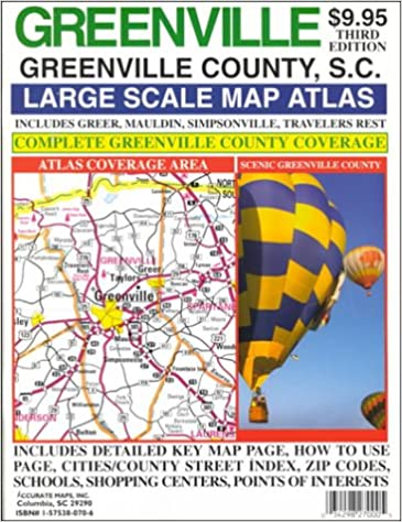 Greer Sc Zip Code Map.Rand Mcnally Greenville Large Scale Map Atlas Greenville County