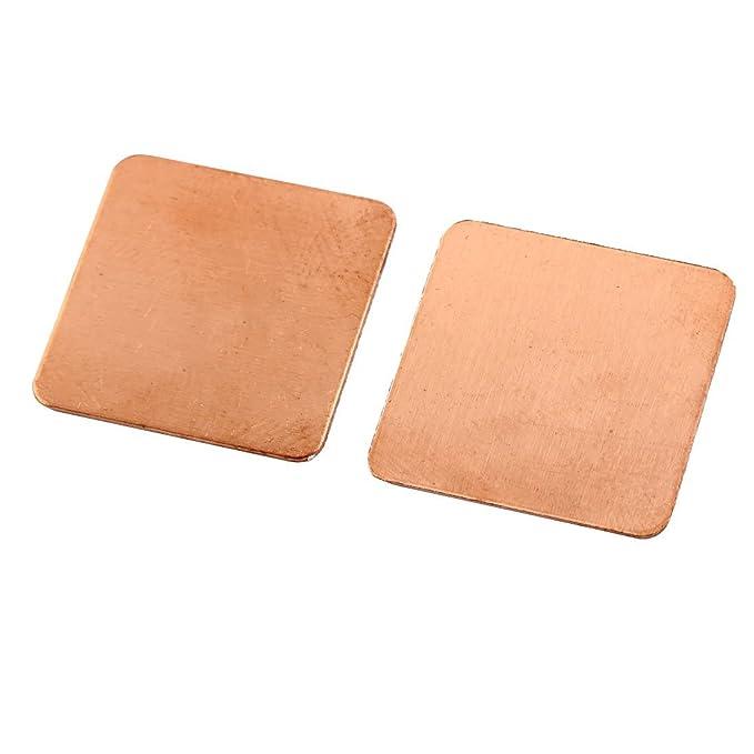 Amazon.com: DealMux 20 mm x 20 mm x 0,3 milímetros Copper Square almofada térmica Shim 10 PCS para CPU PC Portátil: Electronics