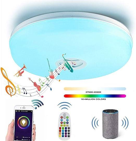 Soffitto Lampada LED RGB TELECOMANDO Dimmerabile Smart-Home Google Alexa app