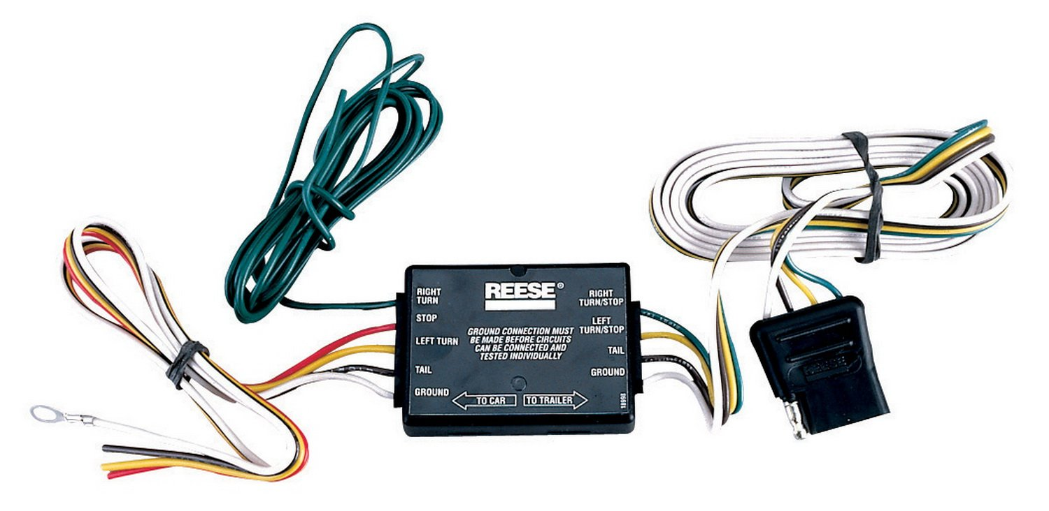 Reese Towpower 74209 Trailer Light Converter Automotive Harness The White Wire Ground On Following Boat Wiring