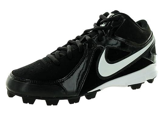 Nike Kids MVP Keystone 3/4 Le (GS) Black/White Baseball Cleat