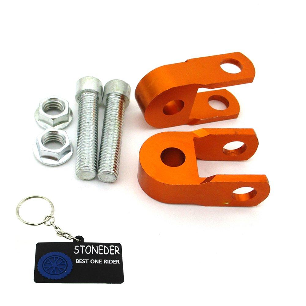 Stoneder arancione alluminio CNC ammortizzatore riser estensione altezza per ATV Quad moto motore Pit Bike Dirt Trail
