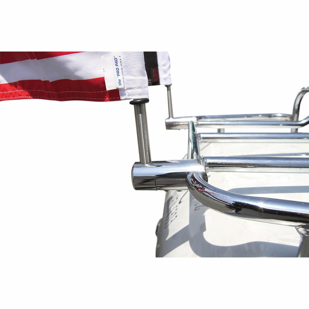 Pro Pad RFM-RDHB58 Extended Style Luggage Rack 5//8-inch Motorcycle Highway Flag Mount Kit for Horizontal Round Bar Stainless Steel