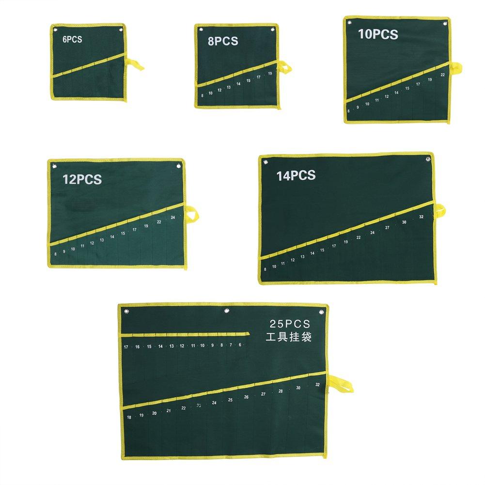 6PCS Fdit Trousse /À Outils Roll-Tasche Tools Sac de Rangement Spanner Wrench Pinces Organizer Pouch Durable Toile Pochettes