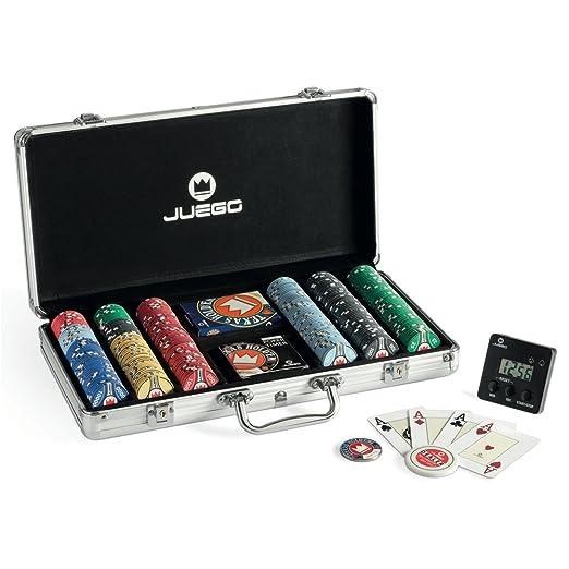 20 opinioni per Juego Valigetta Poker Set Pro include Carte poker & 300 fiches in ceramica,
